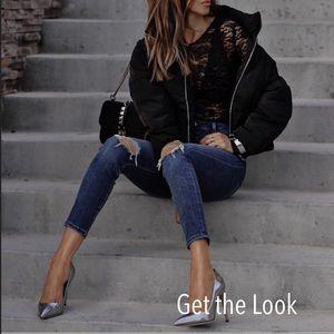 Zara Black Lace Skull Tank Top